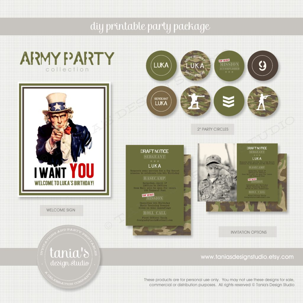 Army Soldier Birthday Party